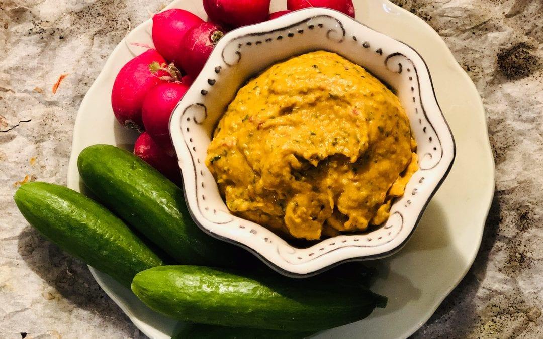 Butterbean and rose harissa hummus