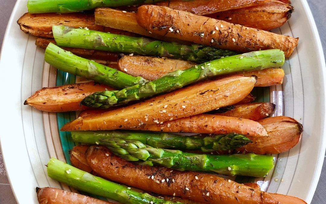 Roasted Carrots and Asparagus