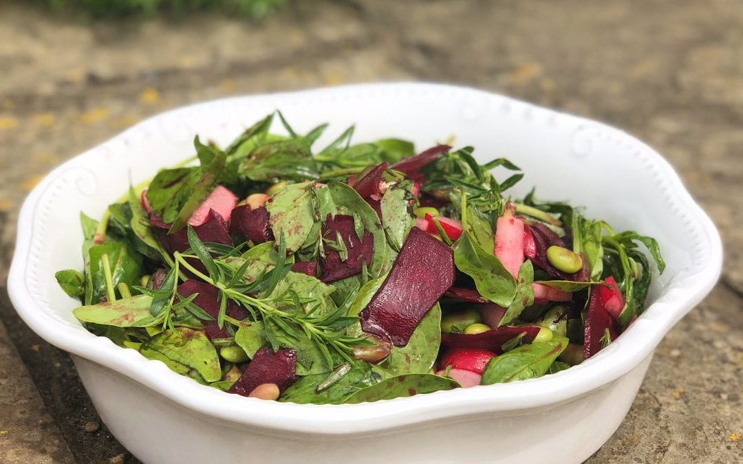 Beetroot and Spinach Salad